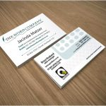 business cards samples - front page
