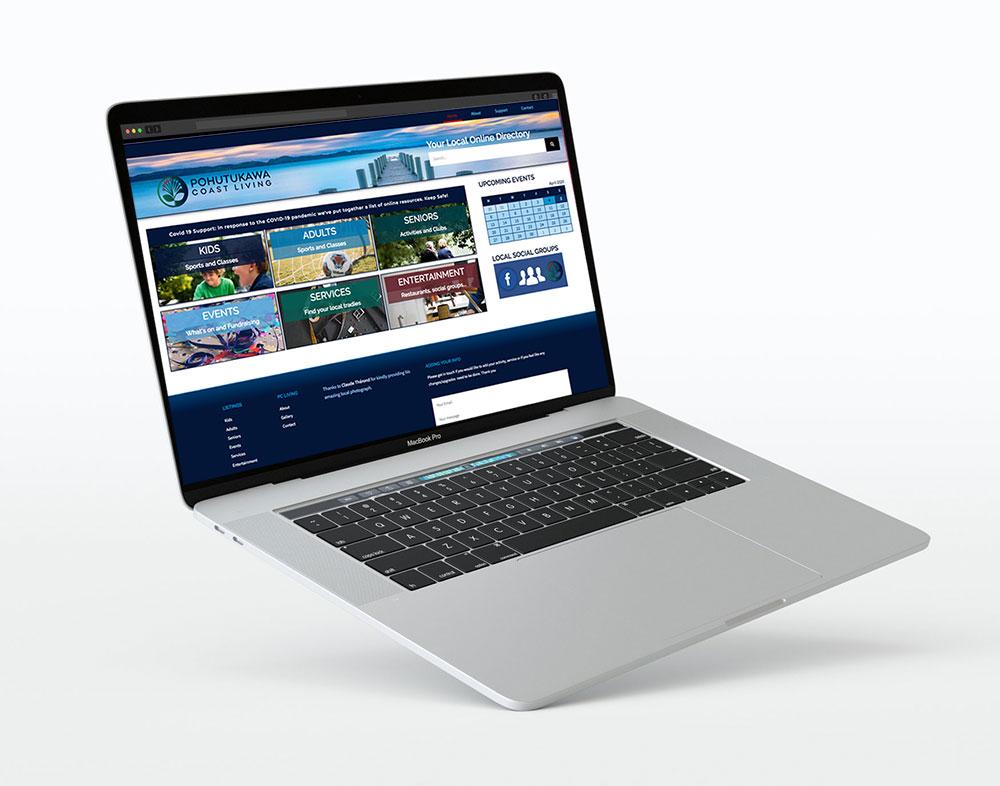 Website design sample Pohutukawa Coast living
