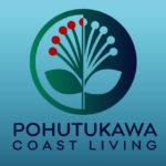 Logo design sample - Pohutukawa coast living