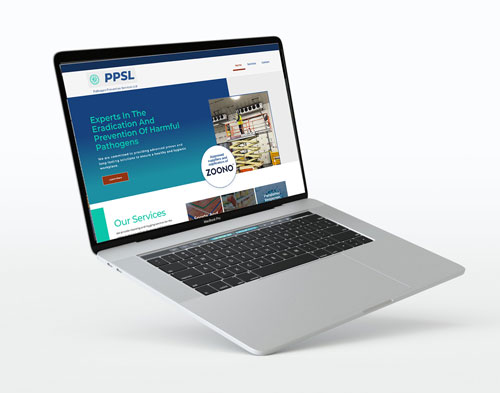 Website design sample - Pathogen Prevention